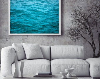 Ocean 12 Abstract Water Minimalist Australia Photograph Photo Wall Art Print Mindfulness Blue Aqua Green
