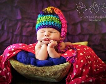 Newborn Baby Girl Photo Prop Elf Hat