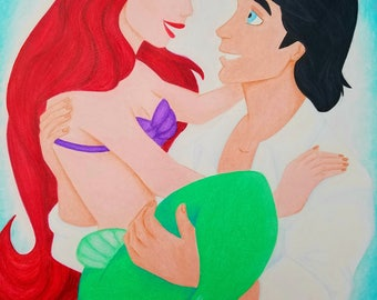 "11x14 Original Prismacolor ""Disney's The Little Mermaid"" Drawing"