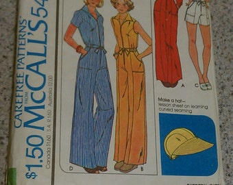 Vintage McCalls Jumper Pattern Size 10, vintage sewing pattern, vintage jumper pattern, size 10 jumper, size 10 jumpsuit, sewing pattern