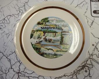 Vintage Niagara Falls Souvenir Plate