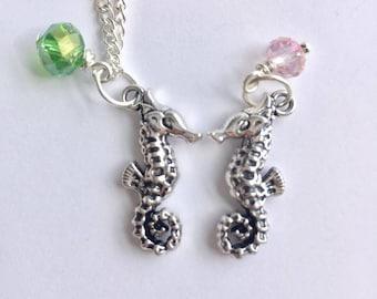 Seahorse Necklace, Charm Necklace, Charm Jewellery, Seahorse Charm, Seahorse Jewellery, Marine Life Necklace, Ocean, seahorse