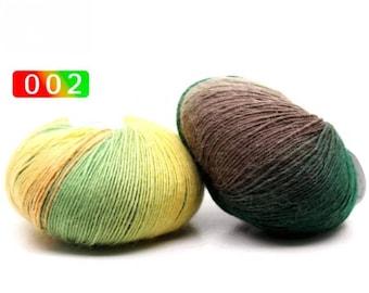 2 - Rainbow Wool Anti-pilling Yarn Skeins - #2