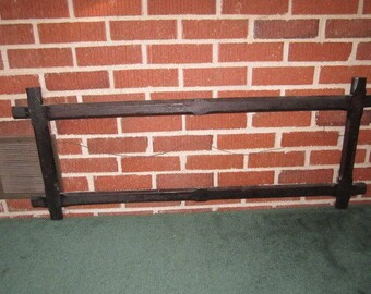 Antique Circa 1905 Large Arts and Crafts Wood Frame for 36x10 Yardlong Picture