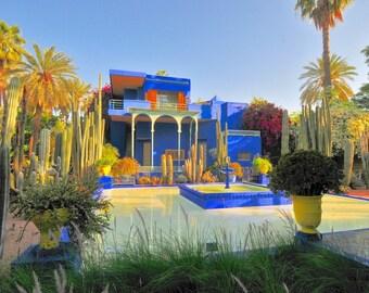 Laminated placemat Morocco Marrakech Majorelle garden 2