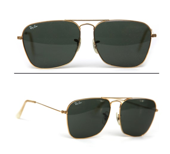 ray ban retro gold