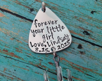 Forever your little girl Fishing Lure Hand Stamped with name and date option