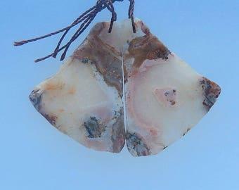Natural Nugget Ocean Jasper Earring Bead,41x29x3mm,13g-E2243