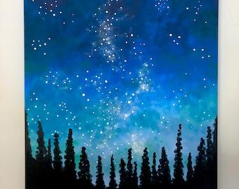 Galactic Sky - Original Painting
