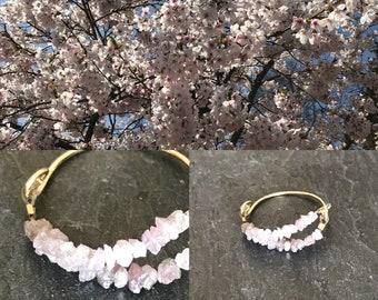 Pink rough diamond ring