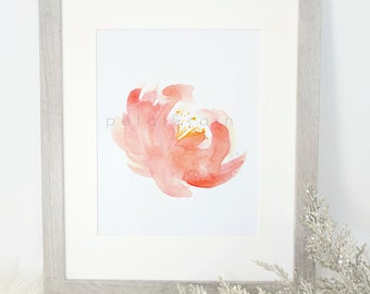 Pink Petals Watercolor Print