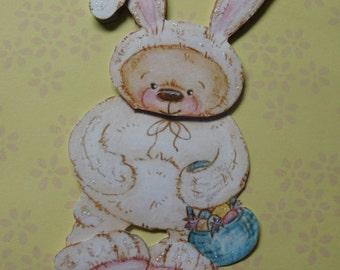 Easter Bunny Rabbit Paper Piece - Easter Scrapbook Embellishment