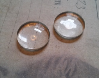 Glass Cabochons Round Clear Glass Cabochons 20mm 10 pieces Circle Cabochons Wholesale