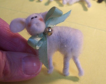 Lamb of Felted Wool Pin
