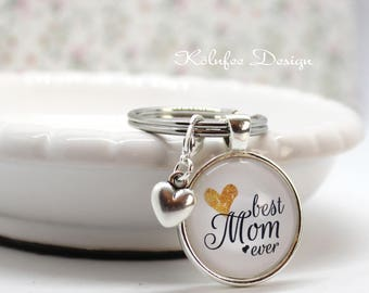 Mom Keychain/Mother key ring/gift for mother/Best mom ever/slogan/pendant/present for mother/bag Pendant