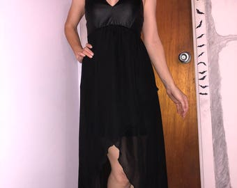 High- low strapless dress, sheer dress, strapless dress, Halloween