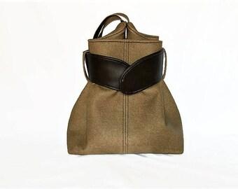 Tan Vegan Leather Purse, Shoulder Strap Vegan Leather Purse, Faux Leather Bag,Tan Brown Shoulder Strap Bag, Tote Style Large Purse