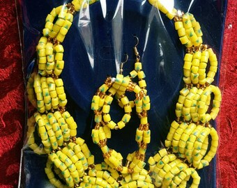 Yellow Traditonal Bead Set