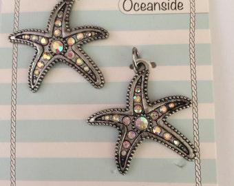 Starfish charms 2 pieces