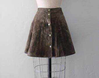 Vintage 1970s Suede Skirt