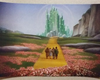 "The Wizard of Oz Emerald City Refrigerator Magnet 5"" x 3 1/2"" Dorothy Toto Lion Tin Man Scarecrow Yellow Brick Road"