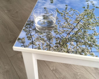Blossom Decoupage Art Side Table