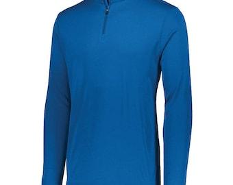 Attain Long Sleeve 1/4 Zip Pullover Top, Navy