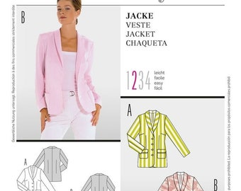 Burda 8201 Size 10-22 Misses Jacket Blazer Sewing Pattern  / UNCUT Factory Folded