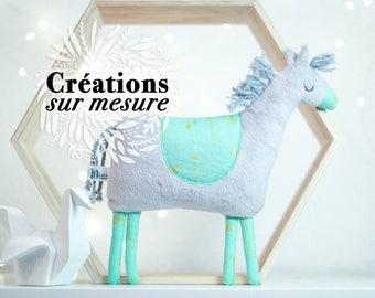 Stuffed Plush Pony horse custom