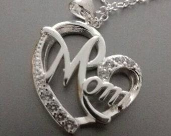 Silver MOM Necklace