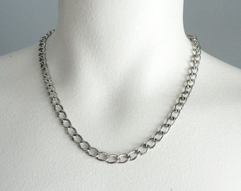 Short Silver Chain Necklace