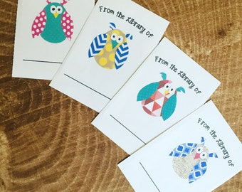 OWLS bookplates, set of 12 or 24