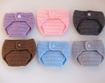 Baby Diaper Cover - Crochet Diaper Cover - Photo Prop - Baby Boy - Baby Girl - You Pick Size and Color - Ready to Ship