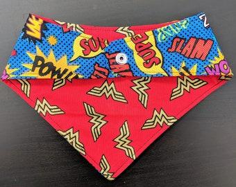 """Reversible Wonder Woman/""""POW!"""" Bandana"""