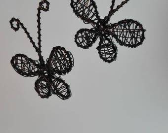 Stainless Steel Butterfly Earrings: catch me if you can!  Handmade Jewelry made with love- Orecchini a farfalla