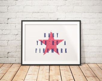 Fourth of July Home Decor, Fourth of July Printable, Fourth of July Prints, Fourth of July Poster, Rustic Home Decor, Farmhouse Home Decor
