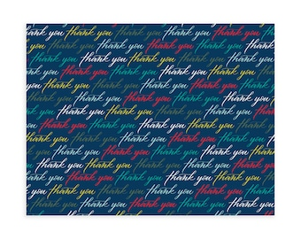 THANK YOU PATTERN, Navy, Notecard Set, Notecards and Envelopes, Notecards, Note cards, Note card set, All Occasion Cards