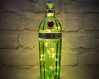 Tanqueray 10 Gin Bottle Light  LEDs (Battery Powered)