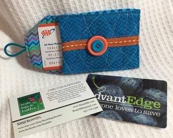 Blue and Orange Card Cozi and Key Chain