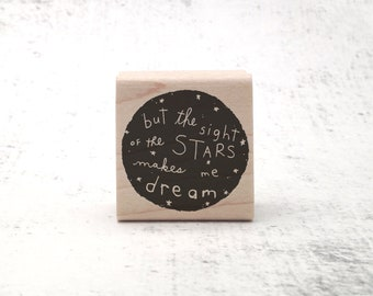 The Van Gogh Stars Stamp - Inspirational Rubber Stamp - Inspirational Quote