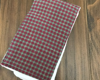 Red and Green Plaid Burpcloth