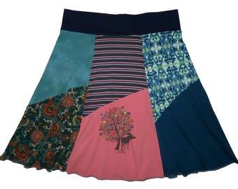 Plus Size 2X 3X Skirt Upcycled Skirt 22 24 26 Alaska Moose One of a Kind Hippie Skirt Women's Best Selling Item Twinkle Skirts Twinklewear