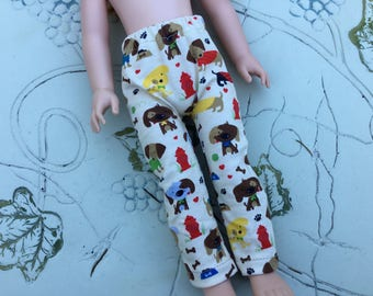 "Puppy dog, leggings, fit Wellie Wisher, 14"" doll clothes"