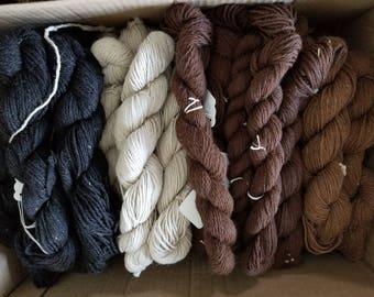 Alpaca yarn, undyed, sport blend, 150 yards per skein