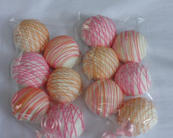 Cake Balls: Vanilla Bitty Bite Cake Balls. Perfect Birthday Gift. Cake Pops. Candy Cake Truffles. One dozen