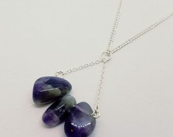 Amethyst Necklace, Amethyst Crystal Pendant, Amethyst Jewelry, Statement Jewelry, Unique Gift