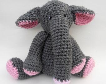 Elephant Crochet Doll