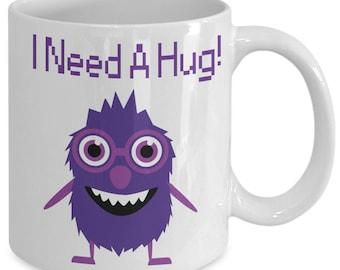 Monster I Need A Hug Coffee Mug