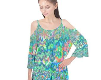Flutter Sleeve Boho Women's Shirt