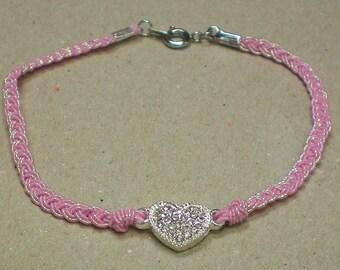 Anklet Crystal Pink